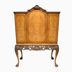Burr Walnut Cabinet on Stand, 1920s