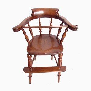 Chaise d'Enfant Victorienne Antique