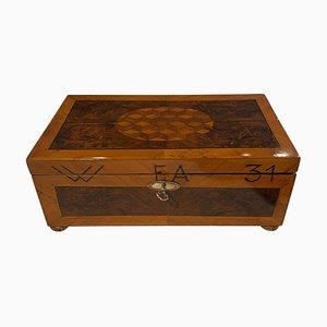 Jewellery Casket Box in Walnut, Walnut Roots, Ebony & Maple, Germany, 1880s