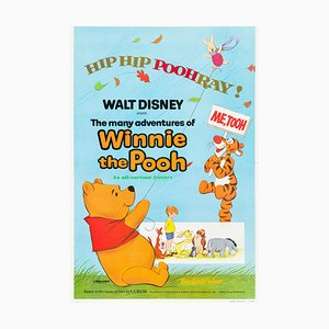 the Many Adventures of Winnie the Pooh Film Poster by Bernard Lancy, 1970s