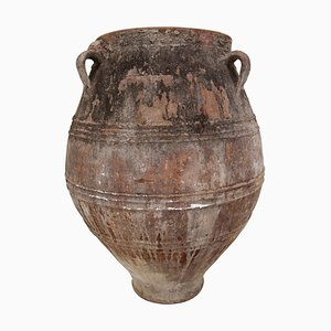 Large 19th Century Greek Patinated Terracotta Jar