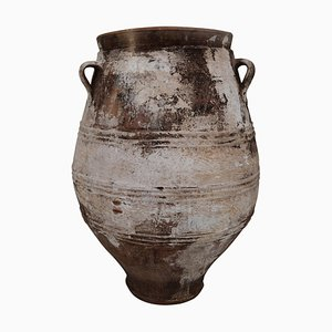 Large Vintage Greek Patinated Terracotta Jar