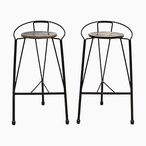 Wrought Iron Barstool, Belgium, 1960s