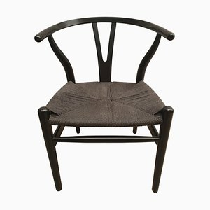 Black Edition Wishbone CH24 Chair by Hans J. Wegner for Carl Hansen & Søn, 1980s