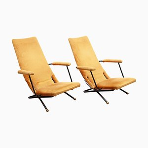 Reclining Lounge and Easy Chairs, Germany, 1950s, Set of 2
