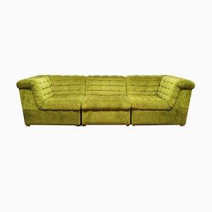 Modular Forest Green Sofa, 1960s