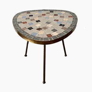 Flower Stool with Mosaic Top, 1950s