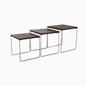 Dutch Wenge Mimiset Nesting Tables from Brabantia, 1970s
