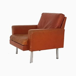 Leather Model SZ54 Lounge Chair by Martin Visser for 't Spectrum, Netherlands, 1960s
