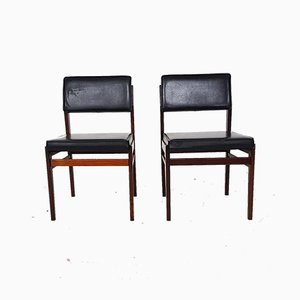 Dining Chair in Black Faux Leather from TopForm, the Netherlands, 1950s