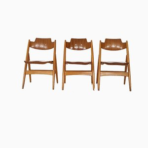 Model SE18 Folding Chairs by Egon Eiermann for Wilde Spieth, Germany, 1952, Set of 3