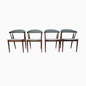 Chaises de Salon Modèle BA 113 en Palissandre par Johannes Andersen pour Andersens Møbelfabrik, Danemark, 1960s, Set de 4