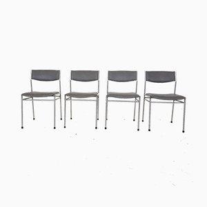Vintage Esszimmerstühle im Stil von Martin Visser, 4er Set