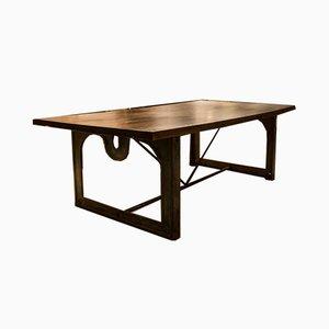 Vintage Industrial Oak Table, 1940s