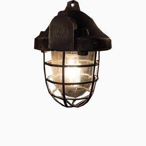 Industrielle Polierte Vintage Jörn Deckenlampe, 1950er