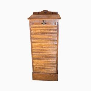 Oak Roller Shutter Cabinet, 1930s