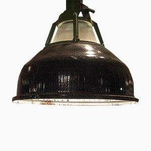 Industrielle ukrainische Alma Deckenlampe in Schwarz & Grün, 1950er