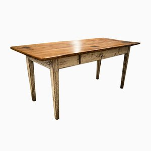 Biedermeier Dining Table With Drawer