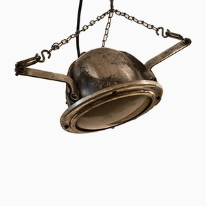 Small Ukrainian Industrial Polished Emilia Ceiling Lamp, 1970s