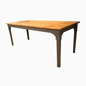 Vintage Reichsbahn Kiefer Dining Table