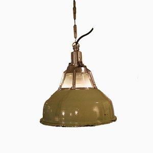 Ukrainische Industrielampe in Minzgrün, 1950er