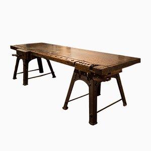 Industrial Pine Workbench, 1920s