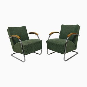Cantilever Armchairs by Anton Lorenz for Kovona, 1950s, Set of 2