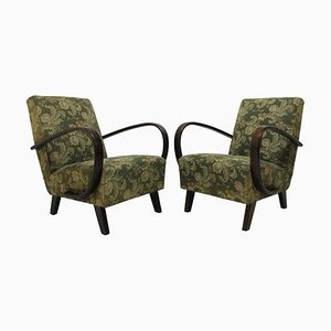 Bentwood Armchairs by Jindřich Halabala for UP Závody, 1950s, Set of 2