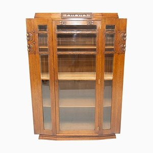 Antique Viennese Secession Display Cabinet