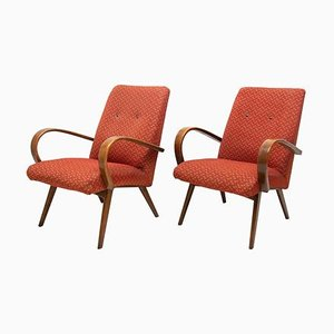 Bentwood Armchairs by Jaroslav Smidek for TON, 1960s, Set of 2