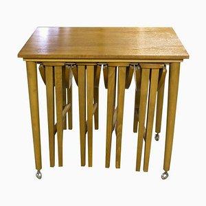 Tables Gigognes par Poul Hundevad pour Novy Domov, 1960s, Set de 5