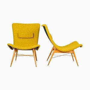Lounge Chairs by Miroslav Navrátil for Český Nábytek, 1959, Set of 2