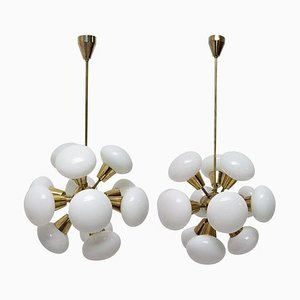 Sputnik Chandeliers from Kamenicky Senov, 1970s, Set of 2