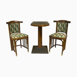 Antique Viennese Secession Lounge Cafe Set, Set of 3