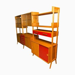 Mid-Century Modern Beech Unit Shelf System by Frantisek Jirak for Tatra, 1960s