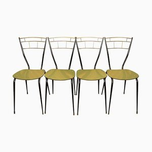 Italienische Esszimmerstühle mit Laminat Sitzen, 1960er, 4er Set
