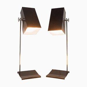 Lámparas de mesa No. 0518 modernistas de Josef Hurka para Napako, años 50. Juego de 2