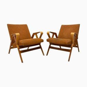 Bugholz Armlehnstühle von Frantisek Jirak für Tatra, 1960er, 2er Set