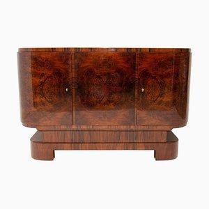 Ovales Art Deco Bar- oder Sideboard aus Nussholz, 1930er