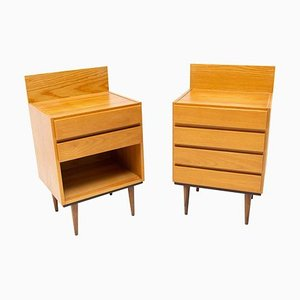 Mid-Century Modern Nightstands from UP Závody, 1970s, Set of 2