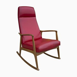 Bentwood Rocking Chair from Krásná Jizba, 1960s