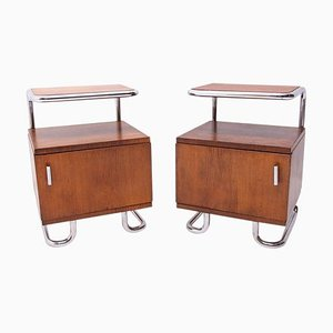 Functionalist Chrome Nightstands from Kovona, Czechoslovakia, 1950s, Set of 2