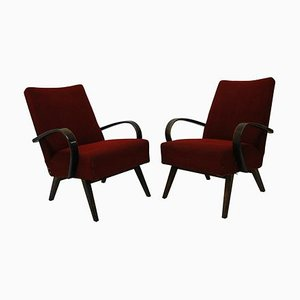 Bentwood Armchairs, Czechoslovakia, 1960s, Set of 2