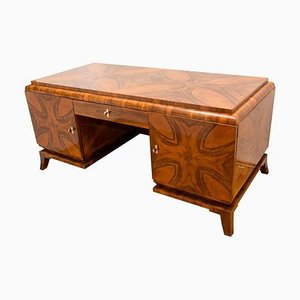 Art Deco Walnut Writing Desk, 1930s