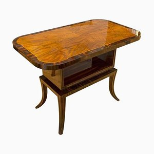 Macassar Ebony and Walnut Coffee Table, 1930s