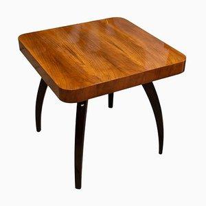 Walnut Spider Table H-259 by Jindřich Halabala, Czechoslovakia, 1950s