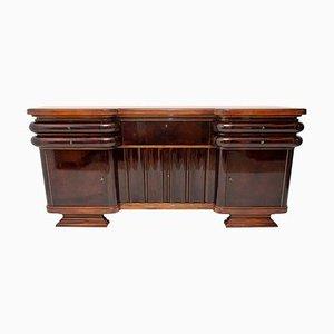 Französisches Nussholz Sideboard oder Buffet im Art Deco Stil, 1930er