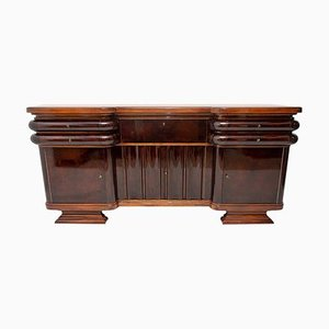 French Art Deco Style Walnut Sideboard or Buffet, 1930s