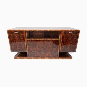 Böhmisches Art Deco Walnuss Furnier Sideboard oder Buffet, 1930er