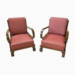 Czech Art Deco Armchairs, 1930s, Set of 2